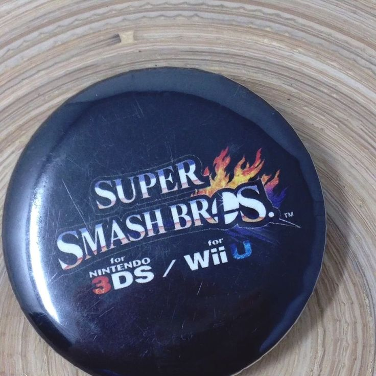 Super Smash Brothers for Nintendo Wii U 3DS Button  #Nintendo