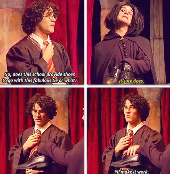"A Very Potter Musical.. ""I'll make it work..."" Oh Harry XD"
