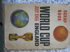 1966 WORLD CUP ORIGINAL SCRAPBOOK-WITH MEGA RARE 10 WEMBLEY TICKETS UPTO FINAL.