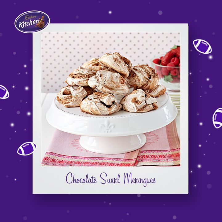 How great will these Classic #Chocolate Swirl #Meringues be to serve for a dinner party or special occasion? #BournvilleCocoa. To find out more about #CADBURY #BournvilleCocoa follow this link https://www.cadburykitchen.com.au/products/view/bournville-cocoa/