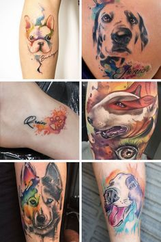 7 Inspiring watercolor tattoo ideas, for anyone looking for a tattooed memorial of their pet.