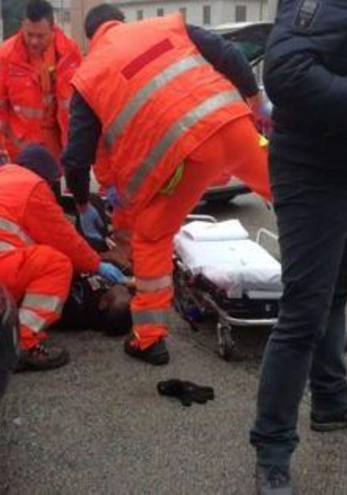 A drive-by shooting has injured several several in the inner city of Macerata, Italian police stated, and also, authorities are cautioning people to stay indoors..