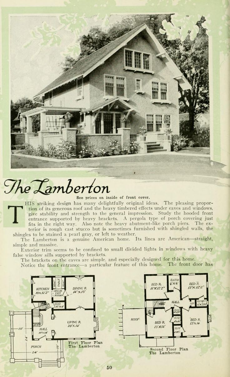 2369 best 1800\'s-1940\'s House plans images on Pinterest | Vintage ...