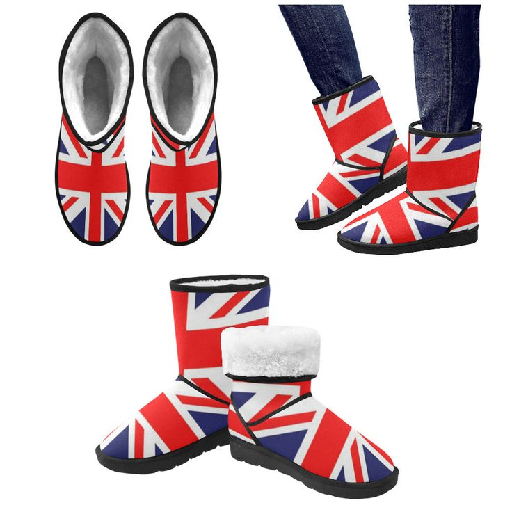 Union Jack  Snow Boots. by bloodybritishclobber on Etsy