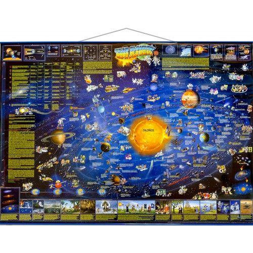 Układ Słoneczny mapa ścienna dla dzieci tylko 60,90zł w ArtTravel.pl