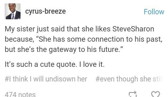 I love Steve and Sharon, they are so cute. He showed an interest in her before he knew she was Peggy's niece, and besides. He and Peggy only kissed once.