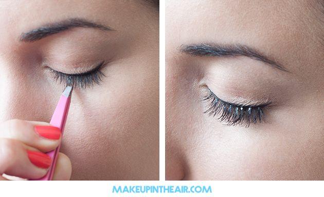 Pestañas postizas paso a paso: Pestañas individuales www.makeupintheair.com/tutorial-pestanas-postizas