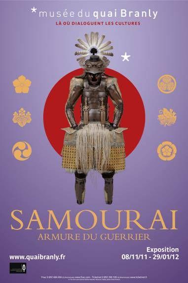 Samourai armure du guerrier. Musée du quai Branly. Du 8 novembre 2011 au 29 janvier 2012.