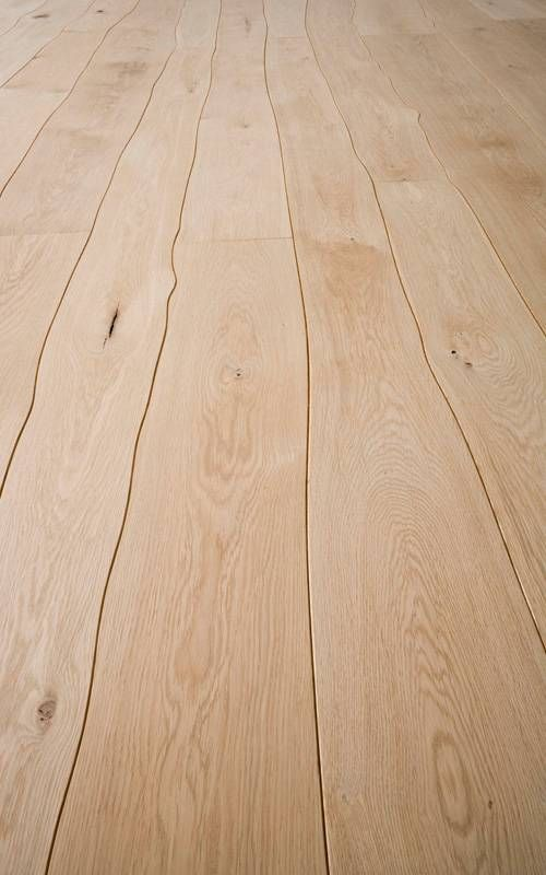 Machined floor planks that maximize amount of wood harvested.
