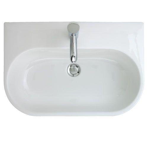 Trio 500 Semi Inset Basin - 1 Tap Hole   bathstore