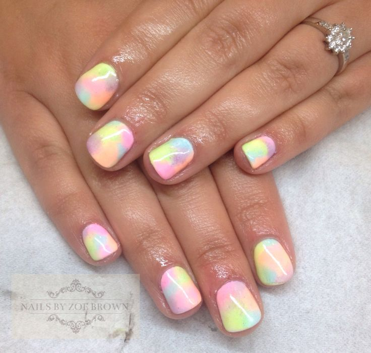 CND shellac spring summer 2015 multi coloured pastel mix ...
