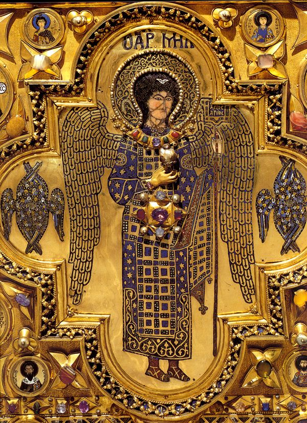 Icon with full-length portrait of St. Michael Detail of panel from the Pala d'Oro; 12th and 13th century, Constantinople