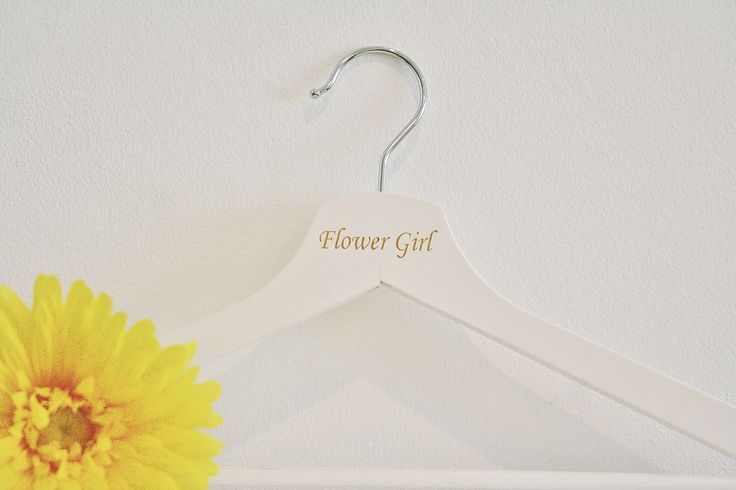 Personalised White Coathanger  Laser Engraved  Perfect gift for friends getting married