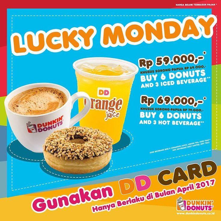 Dunkin Donuts Promo Lucky Monday http://www.perutgendut.com/read/dunkin-donuts-promo-lucky-monday/5546 #PerutGendut #Food #Kuliner #News #Indonesia #WisataKuliner
