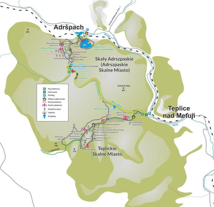 mapa Skalne Miasto