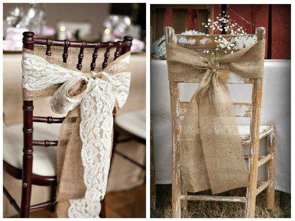 Ideas para decorar las #sillas de la #boda
