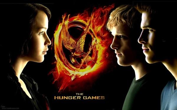 The love triangle - Katniss, Peeta and Gale.