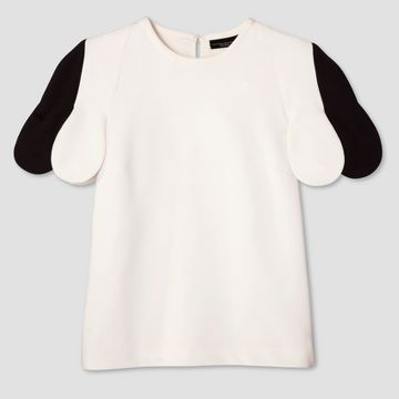 Women's White Scallop Sleeve Top - Victoria Beckham for Target  https://workinglook.com/2017/03/19/catching-spring-fever-with-victoria-beckhams-target-collection/
