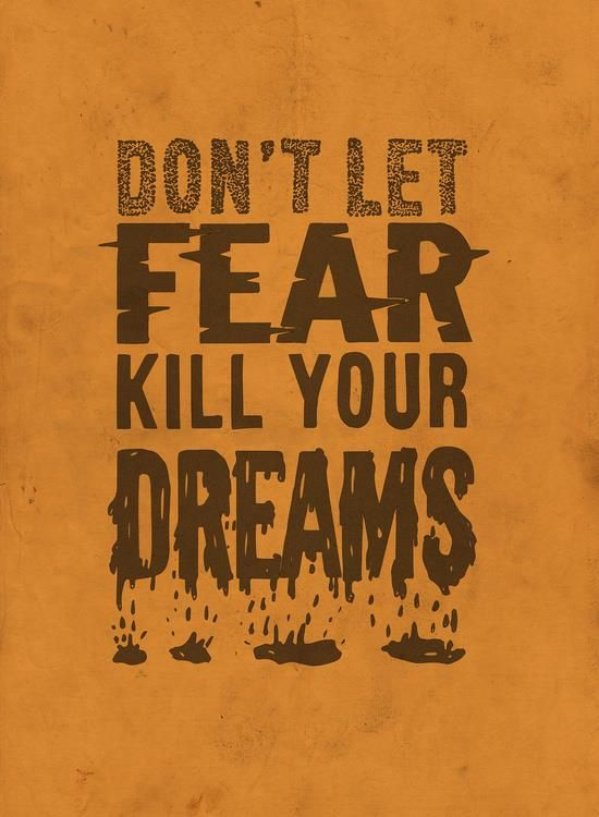 Don't Let Fear Kill Your Dreams motivationmonday print inspirational black white poster motivational quote inspiring gratitude word art bedroom beauty happiness success motivate inspire