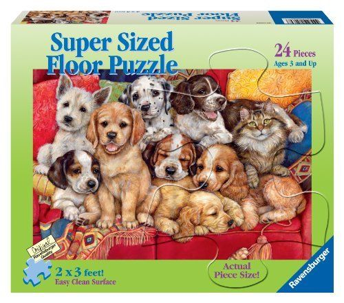 Ravensburger We're All Friends - 24 Piece Floor Puzzle by Ravensburger. $11.95. Ravensburger puzzle pieces are extra durable to withstand the demands of little hands. Experience the quality you can grow with ? piece by piece. Promotes the development of fine motor skills, association, task completion and independent play. Every Ravensburger puzzle exceeds all national and international safety testing standards. Since 1891 we've been making the finest puzzles in Ravensburg...