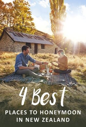 4 Best Places to Honeymoon in New Zealand.   Stunning places in New Zealand that are magical for a romantic destination honeymoon.