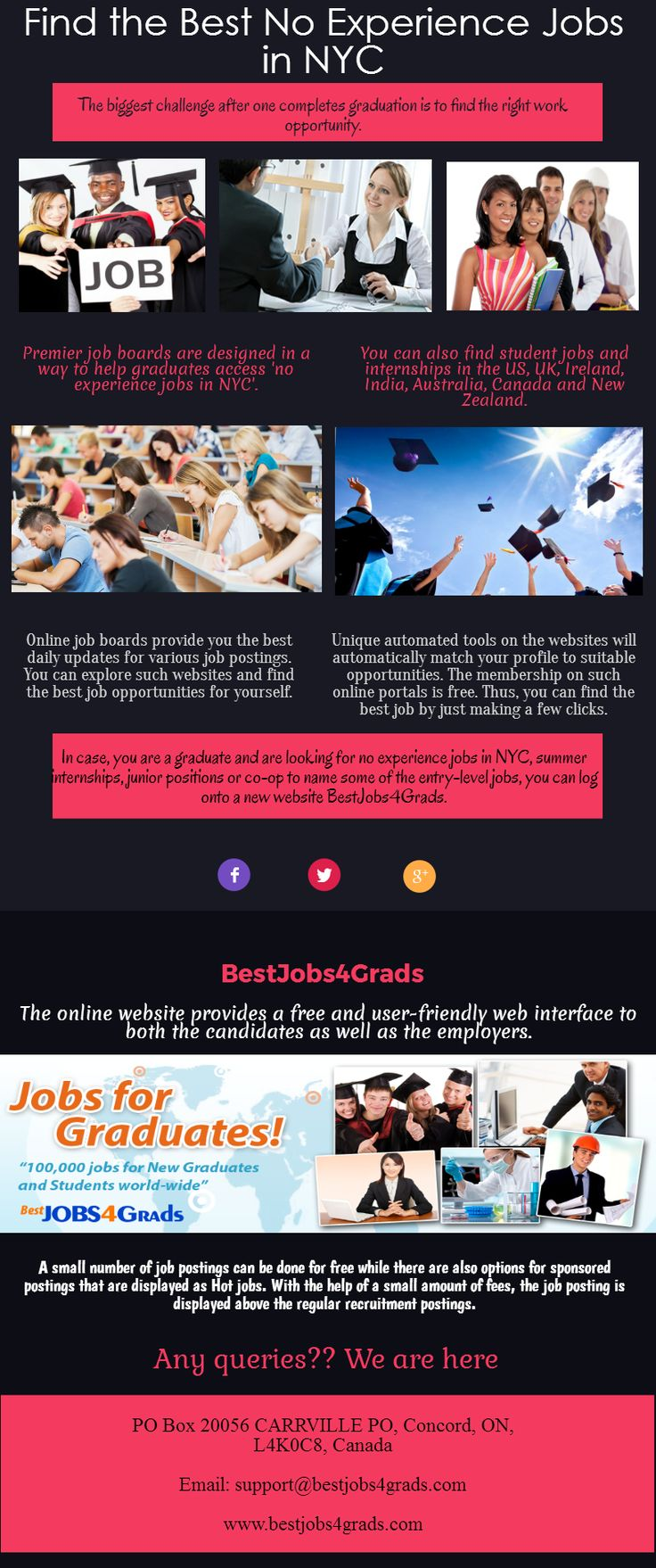Want to join no experience jobs in NYC then contact to BestJobs4Grads online job portal which help you getting hired amazing job opportunities in New York City. @GlobalCk @BusinessProsABQ @techblix7201 @campinggear8 @pnancy74 @LiveWellNH @0lfkmo63qx16j53 @karrychase @campinggear8 @tshirtdsigner