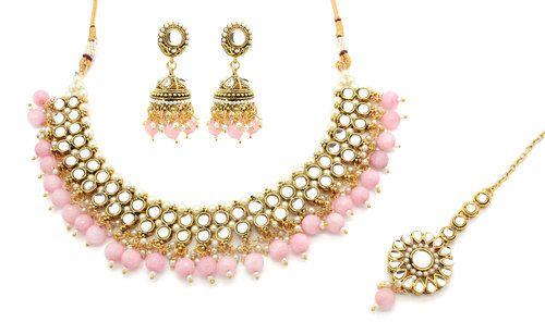 b0de63320 Mint Green Gold Silver Kundan Stone Pastel Necklace Indian Jewellery Jewelry  Jhumki Earring Set