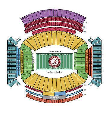 Alabama stadium diagram