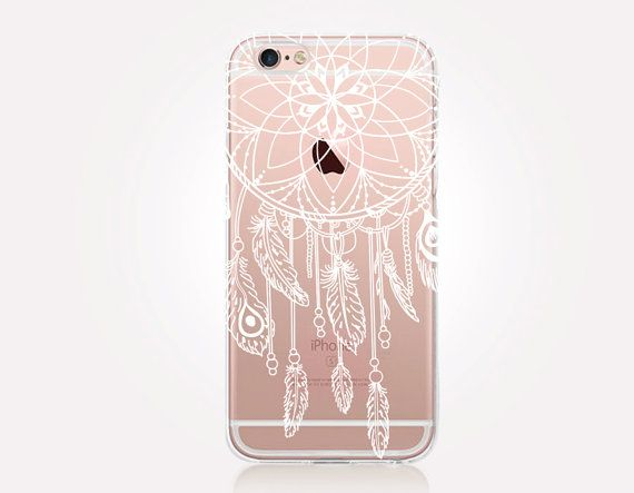 Transparent Dreamcatcher iPhone Case Transparent Case  by CRCases