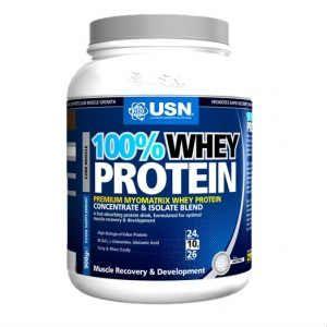 Usn 100% Whey Protein γεύση σοκολάτα 908g
