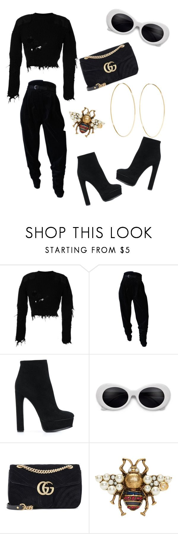 """""""Untitled #51"""" by stylezgalore ❤ liked on Polyvore featuring Yeezy by Kanye West, Versace, Casadei, Gucci and Magda Butrym"""