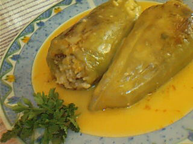 Stuffed peppers - this is a main meal (Bulgarian Recipes)