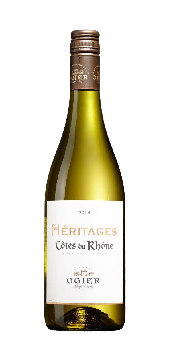 Vitt vin från Rhône i Frankrike. Visar gul fruktighet tillsammans med en typiska blommigheten och vaxigheten.