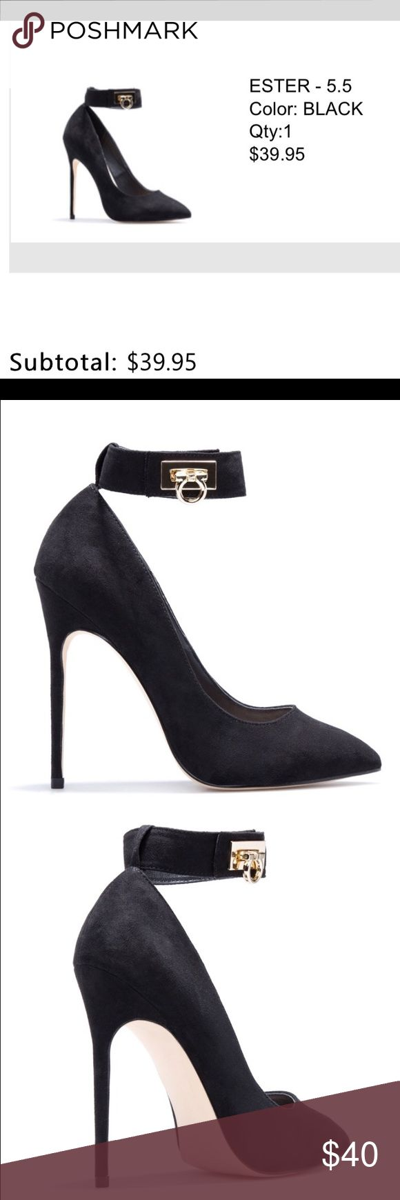 🍀!!!! Ester black heels!!! 🍀 Shoe Dazzle Ester Black Pumps. New. Never worn with box and tags!! Looks nice with any clothes!!! Shoe Dazzle Shoes Heels
