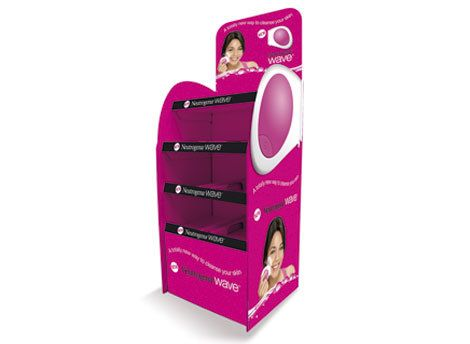Neutrogena Power Wave FSDU (Freestanding Display unit) to improve product demand instore.      *** Design, print and build by The Printed Image in Ireland. ***