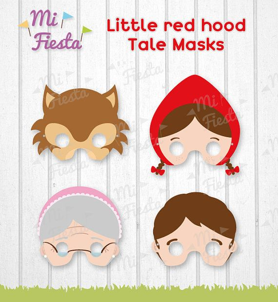 Little Red Riding Hood tale Wolf  Grandma and by MiFiesta on Etsy, $5.99