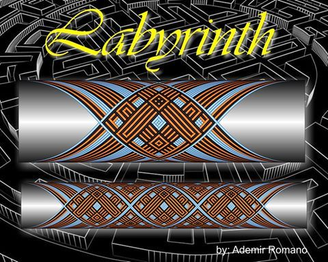 Labyrinth step by step Custom Rod Building Cross Wrap Pattern Facebook Page - Ademir Romano