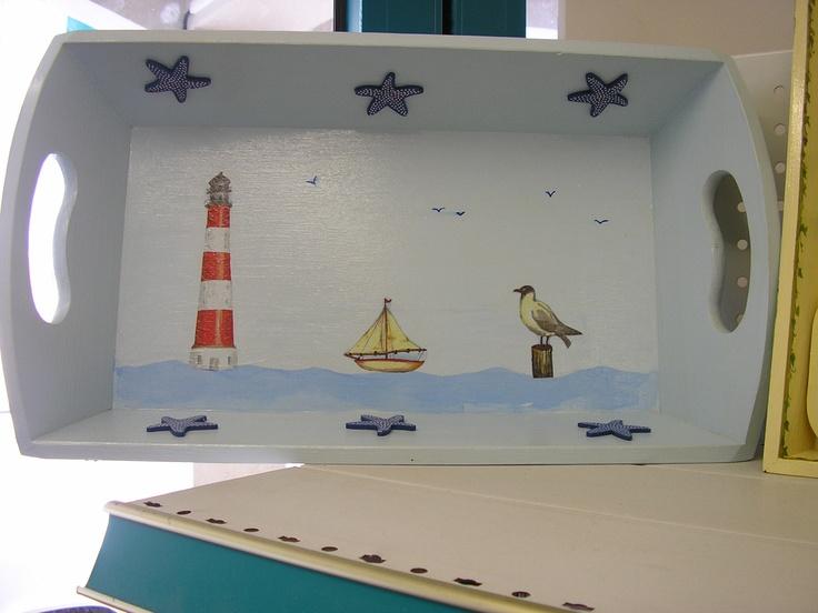 """Corbeille """"bord de mer"""""""