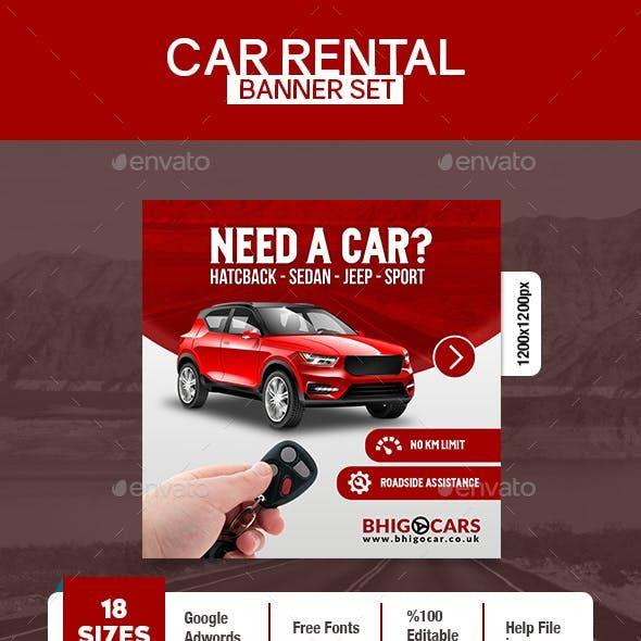 Car Rental Banner Banner Ads Car Rental Car Advertising Design