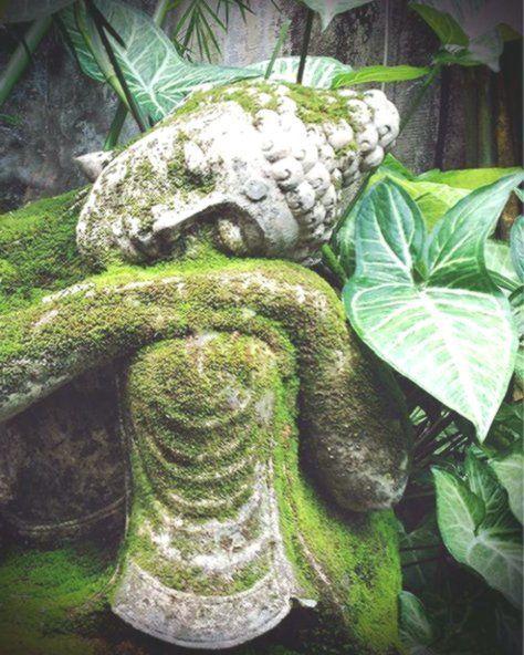 Yoga Kunst Meditationsaltar 11 x 14 spirituelle Fotografie Bali Garten Buddha Ku…