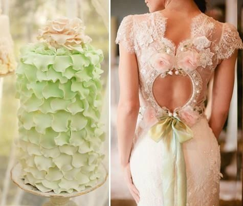 Lace Wedding Gown - the back is stunning! #lace #wedding #gown by @Fellow Fellow Pettibone