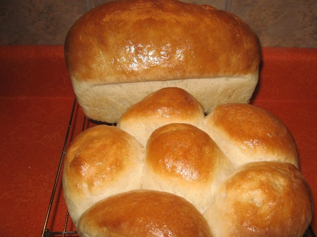 BASIC WHITE BREAD  I've been making this bread recipe for nearly 40 years and it has never failed me. It is a basic white bread that goes together in minutes (I make this recipe about once a week). It is fool proof and a great recipe for beginning bread makers.