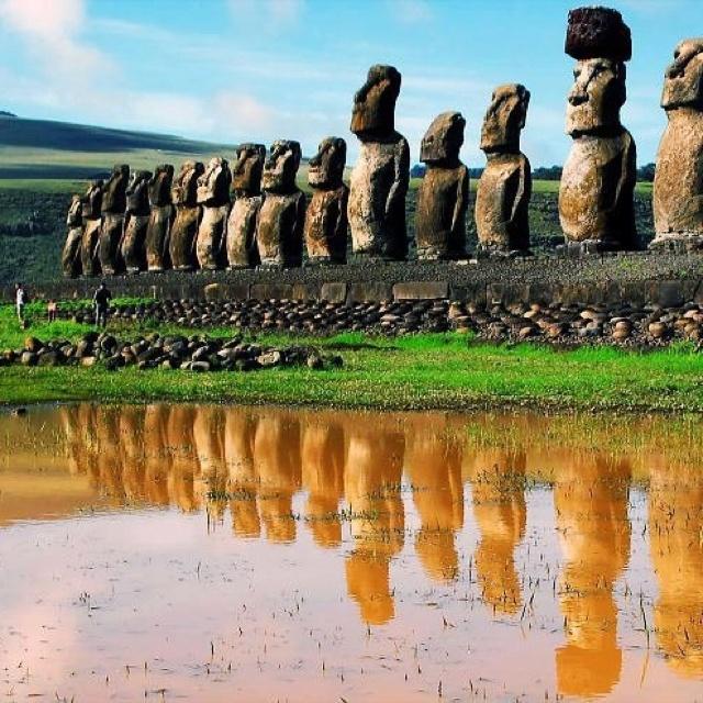 ∆...Mystical: The Moai Statues on Easter Island.