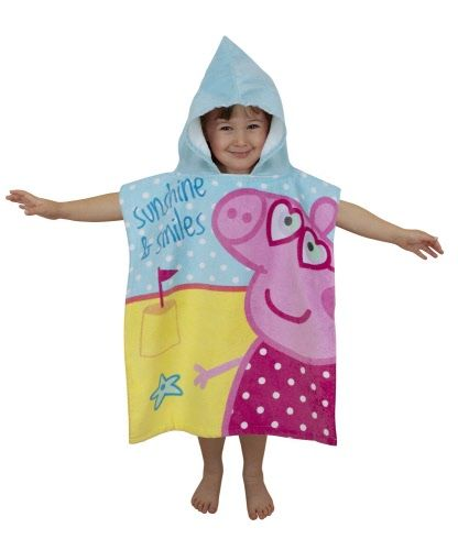 SOLD OUT Peppa Pig Hooded Towel. Buy Here: http://www.izzybizzi.com.au/proddetail.php?prod=Peppa_Pig_Seaside_Hooded_Towel