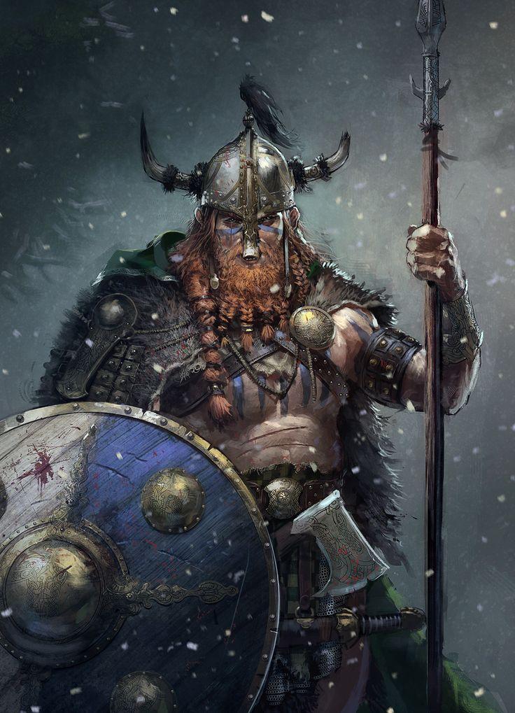 Yghnar (Viking / Nord Warrior), Remko Troost on ArtStation at https://www.artstation.com/artwork/8OenR