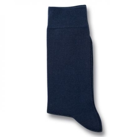 Democratique Socks Originals Solid Navy Blue  Free Worldwide Shipping  - buy 4 socks or more.