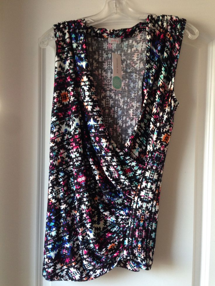 Stitch Fix March 2015 Pixley Montgomery Cross Front Knit Top. I like the bold...