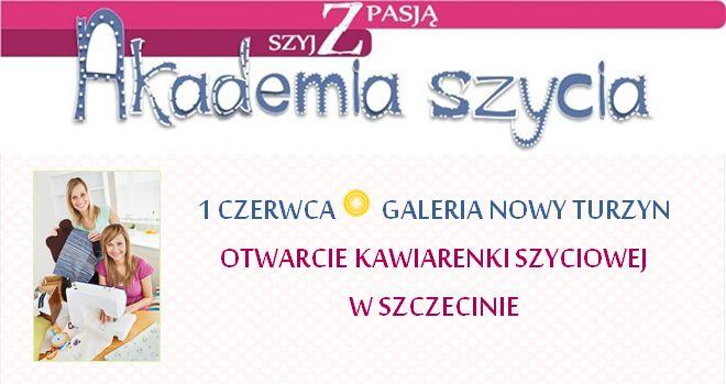 Otwieramy kawiarenkę szyciową w Szczecinie! ZAPRASZAMY!!!! :)