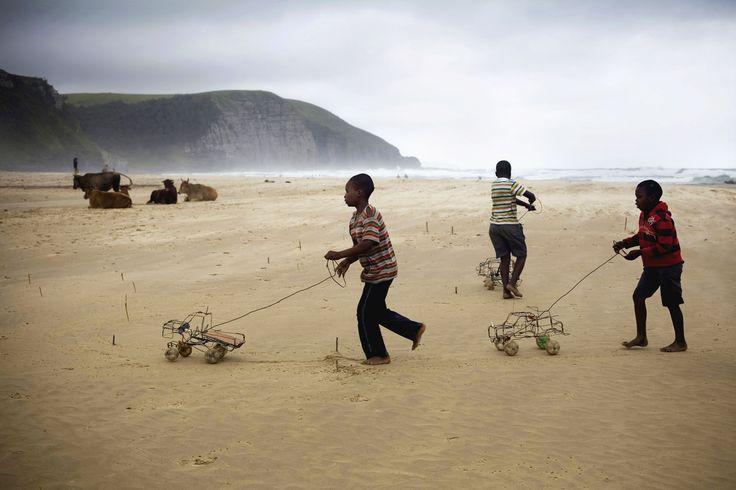 Boys With Hand Made Wire Cars Coffee Bay Wild Coast
