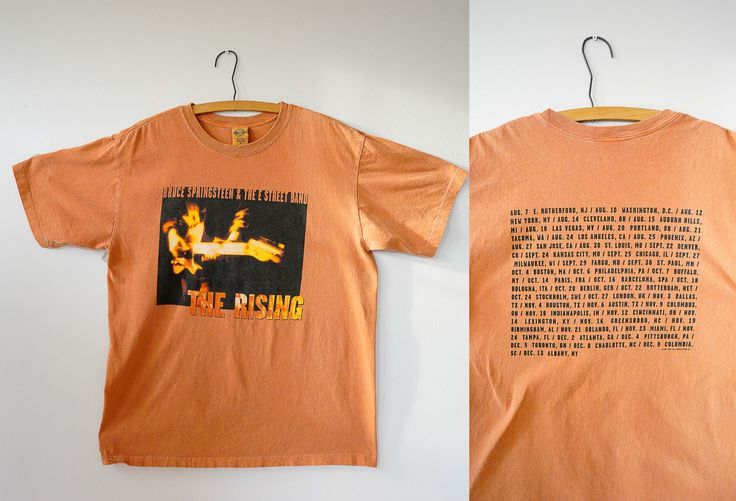 Free Shipping! Vintage Bruce Springsteen The Rising Tour Shirt Size M-L, Springsteen Tour Tee, Tour Shirt, Graphic Tee, Band Shirt by hisandhervintage on Etsy